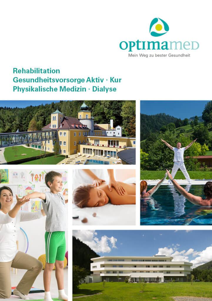 Infofolder OptimaMed Gesundheitsresorts und Rehazentren